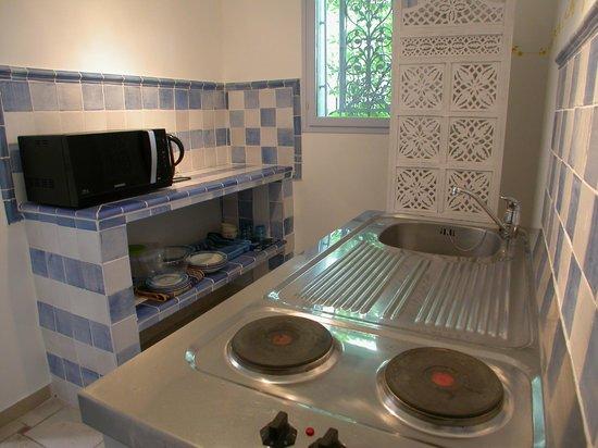 Mas Cantarelles: Kitchenette Chambre Cristal