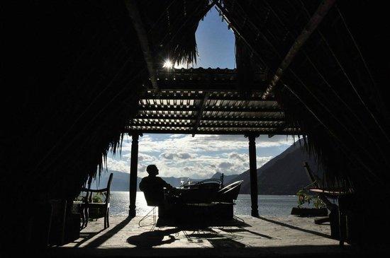 Laguna Lodge Eco-Resort & Nature Reserve : Top floor bar at Laguna Lodge
