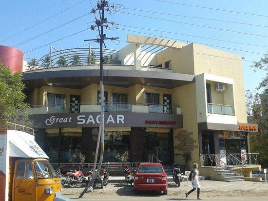 Great Sagar Restaurant with Juice Box next door.