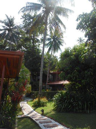Cyana Beach Resort: Footpath to car park and other bungalows