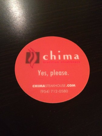 Chima Brazilian: Correct way to hold the card.