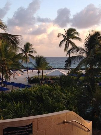 Hilton Barbados Resort: view from balcony