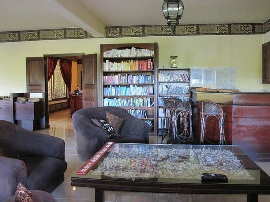 Asian Jewel Boutique Hotel: Lots & books & DVDs if you're at a loose end