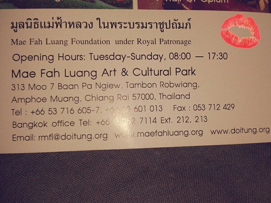 Mae Fah Luang Art and Culture Park: Please give this adress to the taxi driver or use this on google maps :)