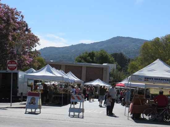 Toll House Hotel: farmer's market a block away from the hotel
