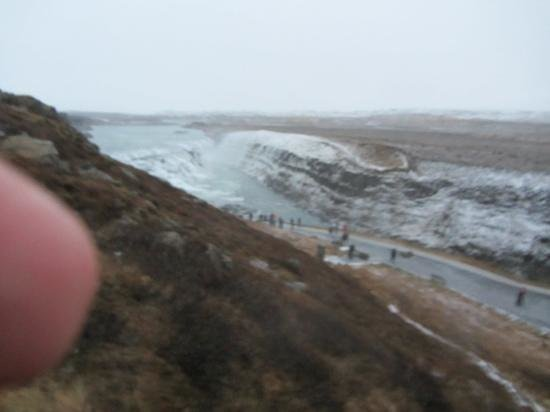 Reykjavik Excursions : Horrendous wind and rain at Gulfoss..