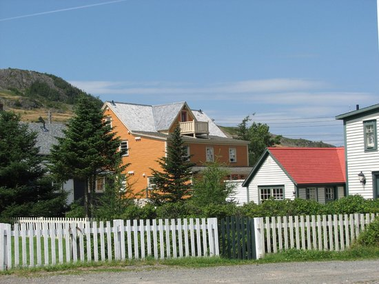 "The ""orange"" house is Trinity Eco-Tours...very beautiful"