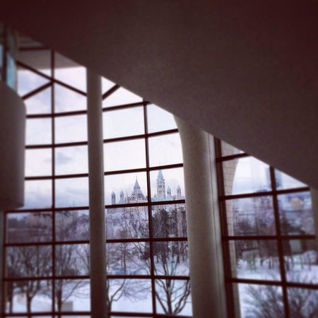 Canadian Museum of Civilization: A view of Parliament from the staircase