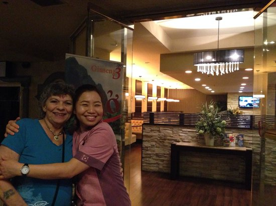 Ginseng 3 : Aunt Carlene with Sally out waitress after our bellies were full!!!!