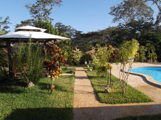 Lodge Margouillat : giardino e piscina