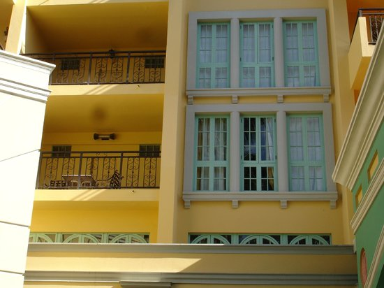 """Jewel Dunn's River Beach Resort & Spa, Ocho Rios,Curio Collection by Hilton : """"Recessed"""" balcony in Diamond Bldg. Balcony is to the side of the room."""