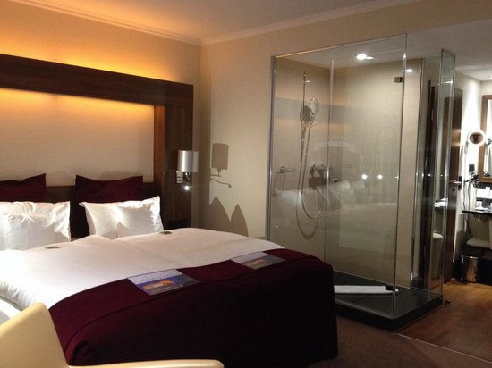 Fleming's Deluxe Hotel Frankfurt Main-Riverside: The famous shower in the room
