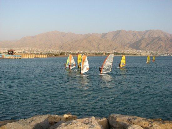 Leonardo Privilege Hotel Eilat: Вид с  пляжа