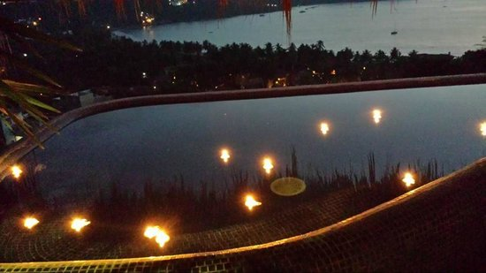 Hotel Cinco Sentidos: Floating Candles in our Infinity Pool