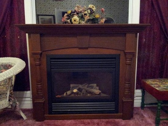 Andrea's Bed and Breakfast: Gas Fireplace in King Suite (2 Bedroom/2 Bathroom Suite)