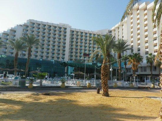 Leonardo Club Dead Sea Hotel : The hotel from the beach