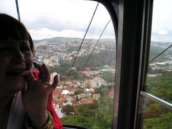 Cable Car to Sao Domingos ridge : Um pouquinho de medo!