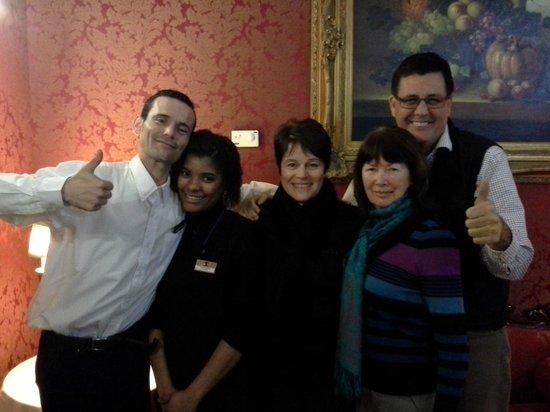 BEST WESTERN Cervantes Hotel -- Seville : Rafael & Gelen at dinner