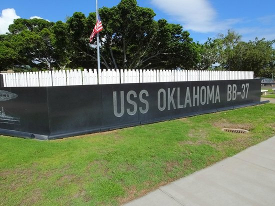 USS Oklahoma Memorial : Solem and Standing to Attention..!