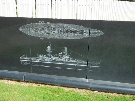USS Oklahoma Memorial : The USS Oklahoma...!