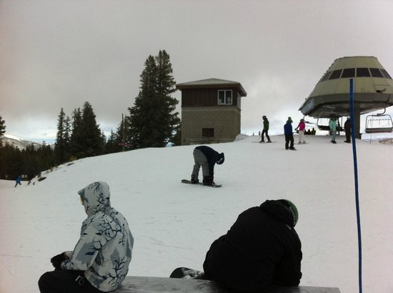 Mammoth Mountain: At the top of Chair 11