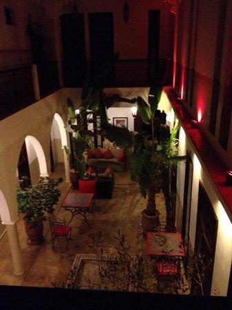 Riad Badi: Riad at night
