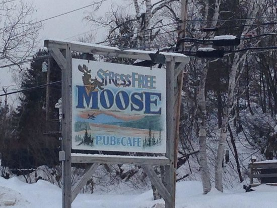 Stress Free Moose Pub & Cafe : Look for this sign!
