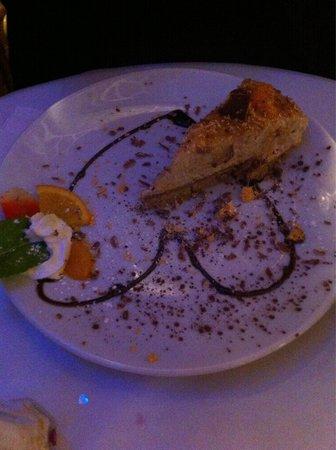 Portofinos Restaurant: Chocolate orange cheese cake