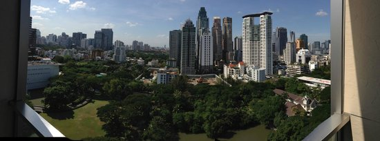 Oriental Residence Bangkok: The view from the balcony