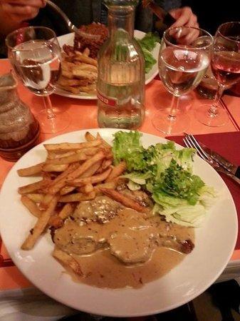 Le Clos Bourguignon: Faux filet frites