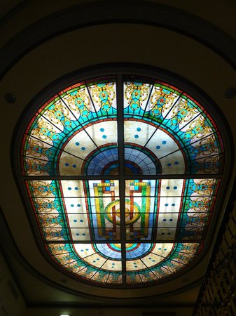 Hotel Avenida Palace: lindo vitral sobre a escadaria