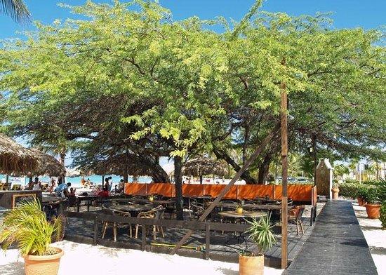 Amsterdam Manor Beach Resort: Dining area at Passions Beach Bar