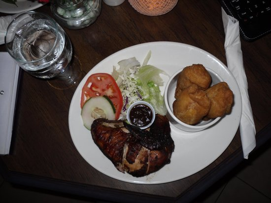 The Knutsford Court Hotel: Jerk Chicken, Festival and Salad...Mmmmmm
