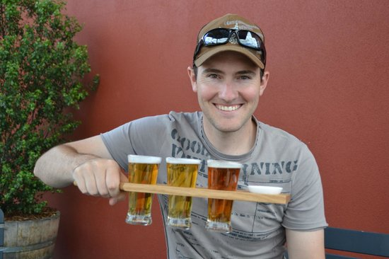 James Boag Brewery Experience : Tasting paddle for $10 with a dish of malt to nibble