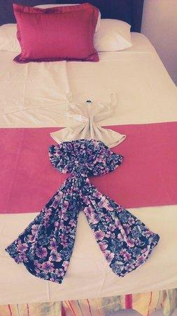 Grand Bahia Principe San Juan: The maids personal touch with my pajamas