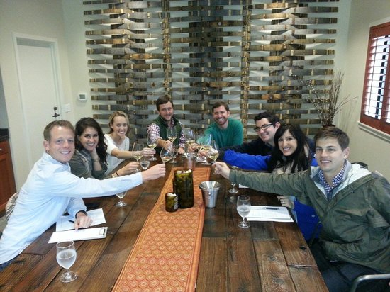 PF Wine Tours: Group of college friends up here from Stafford having tons of fun at Hunnicutt
