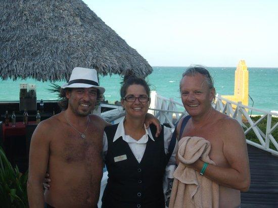 Sol Cayo Santa Maria: Con Vivian del bar la Picúa
