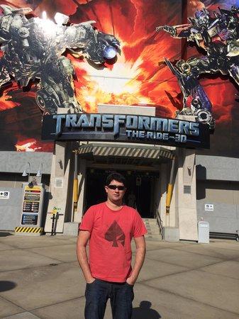 Universal Studios Hollywood : montanha russa 3d transformes - imperdivel