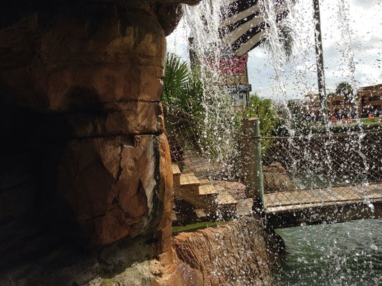 Congo River Golf : Lots of water!