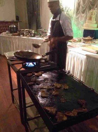 Ceybank Rest: live cook station