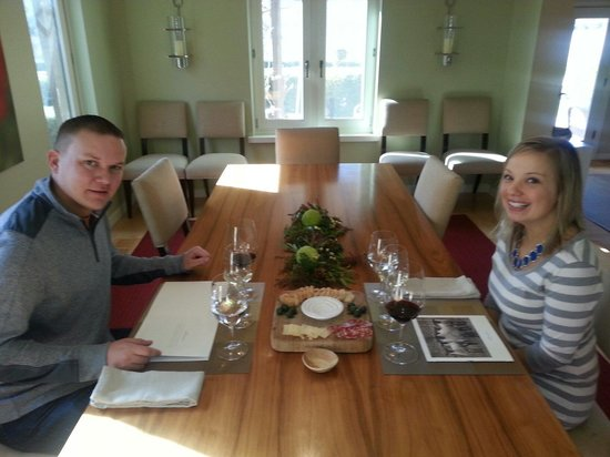 PF Wine Tours: Brandon & Katie on a long weekend celebrating their 1st anniversary. At one of our favorite, exc