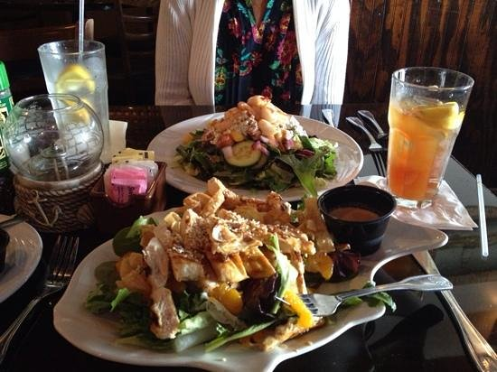 Backwater's on Sand Key: Asian Chicken and Shrimp Salad