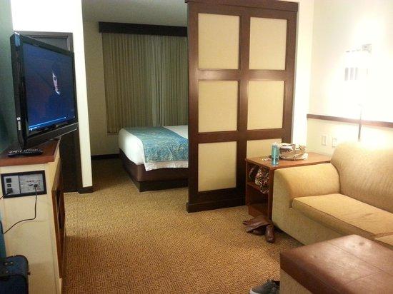 SpringHill Suites Birmingham Downtown at UAB : king suite entrance