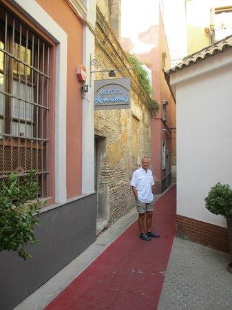 Hotel Amadeus: Entrance to Hotel