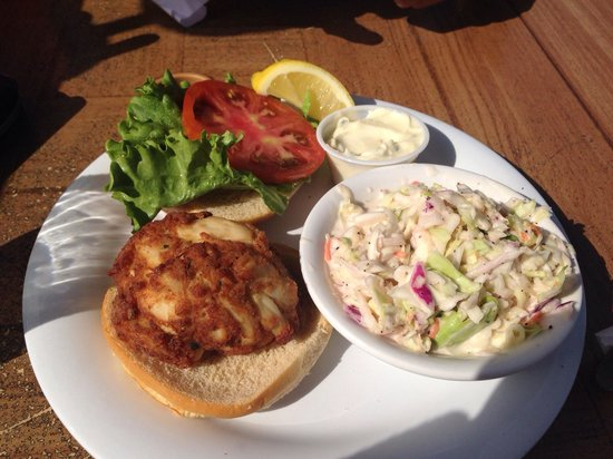 Old Key Lime House: Crab cake sandwich