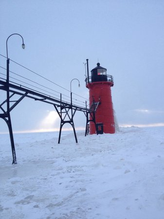 South Haven Lighthouses: Jan 2014