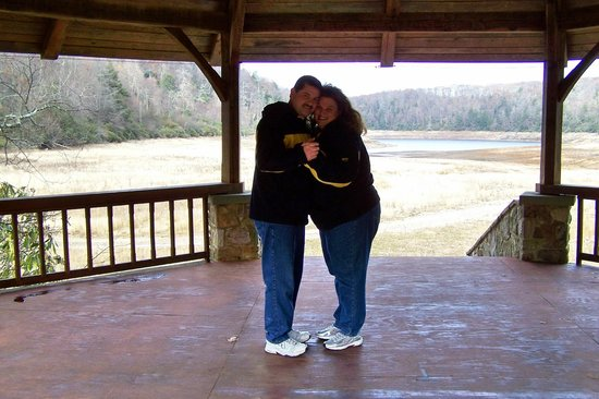 Pembroke, Virginie : Us standing in the exact gazebo fromt he movie