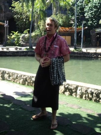Polynesian Cultural Center: our tour guide Matt