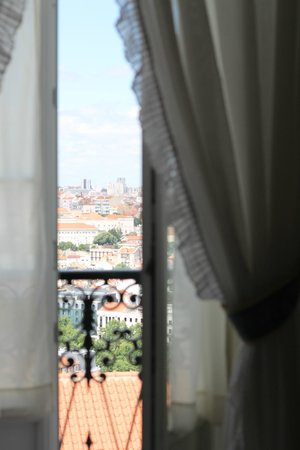Pensao Londres : sacada do quaerto - pensão londres - vista do quarto andar