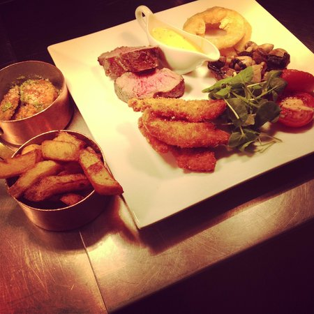 Marco Pierre White Steakhouse Bar & Grill Chester: My gorgeous valentines meal! Surf and turf sharing platter